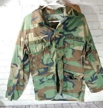Vintage U.S. Army Small Regular Jacket Combat Woodland Camouflage Pattern - $24.74