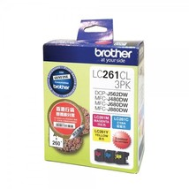 Brother LC261CL Cyan, Magenta and Yellow Standard Ink Cartridge (Set of 3), LC26 - $48.99
