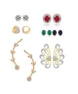 Efulgenz Pack of Cubic Zirconia Cubic Zirconia Stone Earrings for women - $35.00
