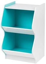 IRIS 2 Tier Scalloped Storage Shelf, White And ... - $50.49