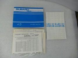 1978 Subaru 1600 Series Owners Manual 17215 - $13.81