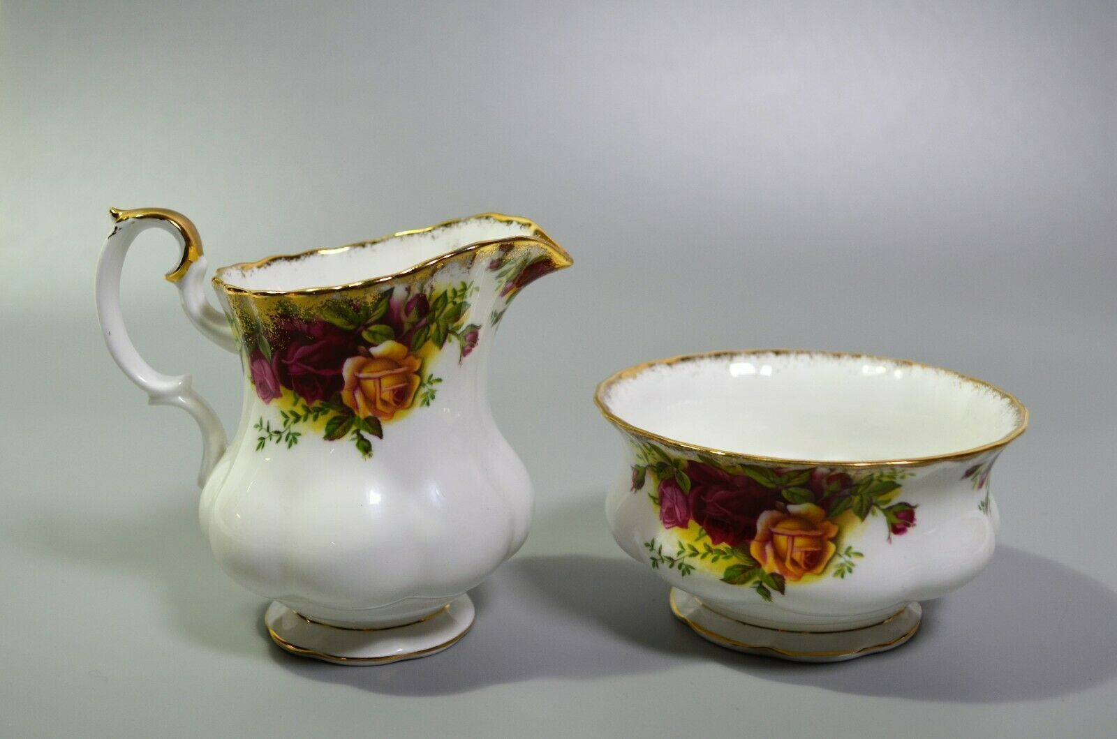 Primary image for Royal Albert Old Country Roses Large Creamer Open Sugar Bowl English Bone China