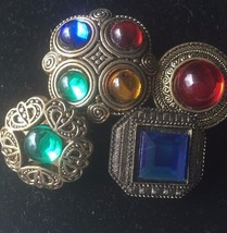 Button Covers Set of 4 Gemstone - $24.70