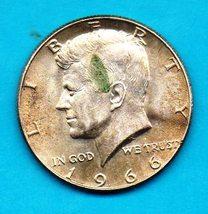 1966 Kennedy Halfdollar ( - 40% Silver - ) - $3.00