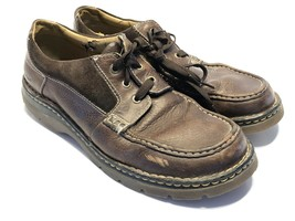 Men's Dr Martens Brown Apron Toe Leather Suede Lace Up Oxford 8C02 Size 12 - $44.09