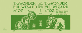 Baum THE WONDERFUL WIZARD OF OZ facsimile dust jacket for first edition ... - $24.50