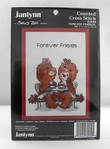 Janlynn Suzy's Zoo Forever Friends Counted Cross Stitch Kit - Red Frame #38-89 - $7.55