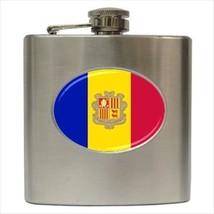 Andorra Flag Stainless Steel Hip Flask - $14.75