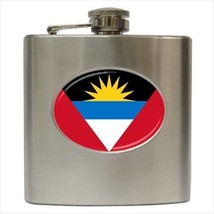 Antigua and Barbuda Flag Stainless Steel Hip Flask - €11,98 EUR