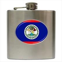 Belize Flag Stainless Steel Hip Flask - €12,70 EUR