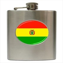 Bolivia Flag Stainless Steel Hip Flask - $14.75