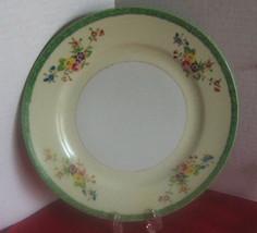 "Vtg Hand Painted Made in Japan 9"" Plate Floral-Oriental-GreenRim-Homer L... - $3.99"