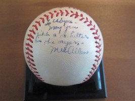 Mel Allen Hof Yankees Announcer Signed Auto Vintage Harridge Baseball Jsa Loa - $395.99