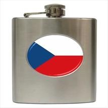 Czech Republic Flag Stainless Steel Hip Flask - $14.75