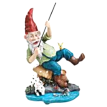 Gone Fishing Garden Gnome Statue - $54.26