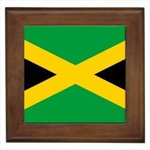 Jamaica Flag Framed Wall Tile Art (Home Decor) - $12.54