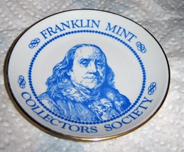 "Vintage 1982 Franklin Mint Plate Franklin Porcelan Plate 3"" - $2.97"