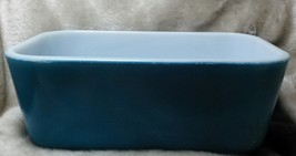 Vintage Pyrex Glass Rectangle Food Storage Container - Aqua Blue (NO Lid) - $12.99