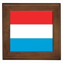 Luxembourg Flag Framed Wall Tile Art (Home Decor) - $12.54