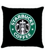 Starbucks Coffee Logo Black Cushion Cover Throw Pillow Case - $15.00