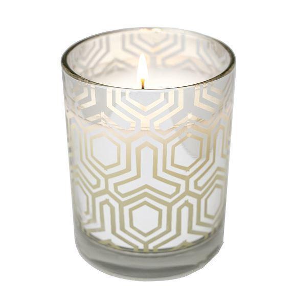 Aromatique Mojito Beach Scented 12.5 oz.(354g) Metallic Candle in Glass
