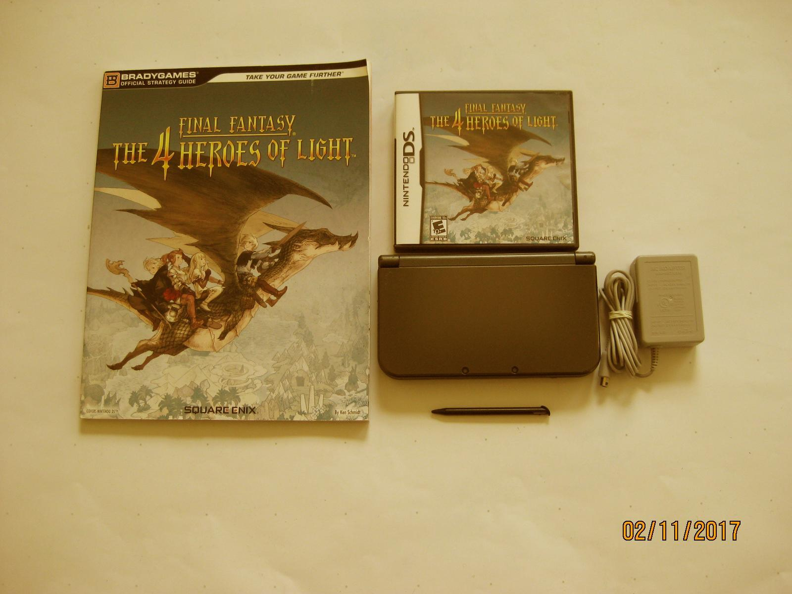 Primary image for Nintendo New 3DS XL Black 10.7 Firmware w FF 4 Heroes & More !!