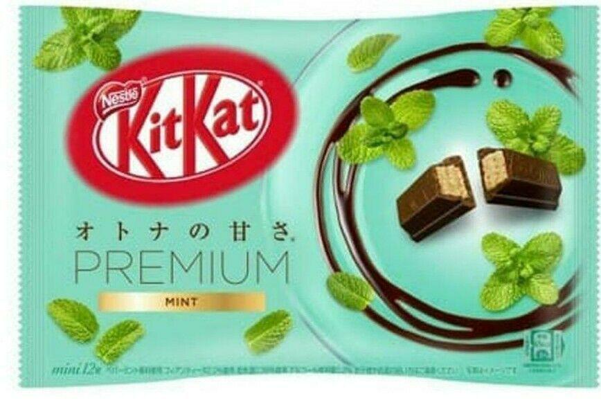 Nestle KitKat Premium Mint  Mini Biscuit 12 Mini Biscuits ~ US SELLER - $8.42