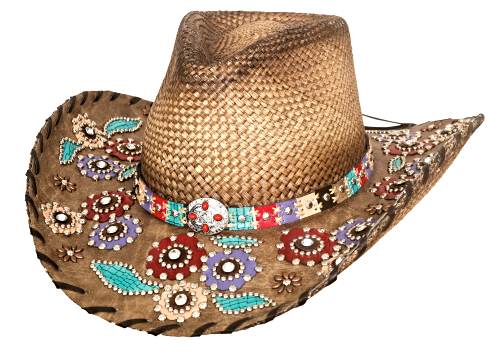Primary image for Bullhide Setting The World Panama Straw Cowgirl Hat Whipstitched Brim Natural