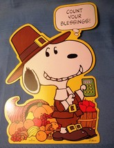 Snoopy Count Your Blessings Thanksgiving Pilgri... - $6.99