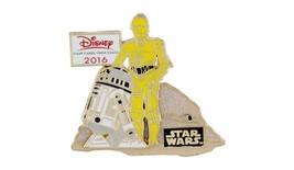 Disney Parks 2016 Chase Visa Card Exclusive Star Wars C-3PO R2-D2 Tradin... - $16.95