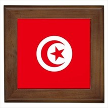 Tunisia Flag Framed Wall Tile Art (Home Decor) - $12.54