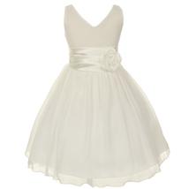 Orange V-Neck Sleeveless Bodice Flower Girl Dress Birthday Bridesmaid Party Prom image 7