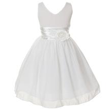 Orange V-Neck Sleeveless Bodice Flower Girl Dress Birthday Bridesmaid Party Prom image 11