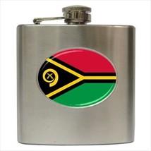 Vanuatu Flag Stainless Steel Hip Flask - $14.75