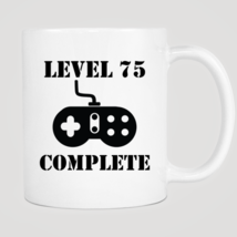 Level 75 Complete 75th Birthday Mug - $12.99