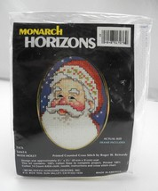 Santa with Holly Printed Counted Cross Stitch Kit by Monarch Horizons - ... - $6.60