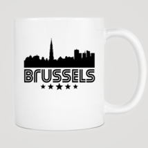 Retro Brussels Skyline Mug - $12.99