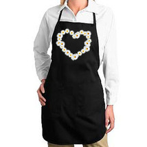 Daisy Heart Floral New Apron Unisex Cook Bake Events Parties Gifts - $19.99