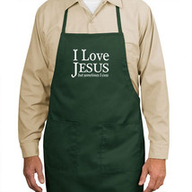 I Love Jesus But Sometimes I Cuss New Apron Unisex Cook Bake Events Parties Gift - $19.99