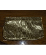 Guess Metallic Gold Croc Clutch Purse Handbag T... - $14.97