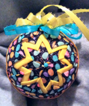 Quilted Easter Themed Christmas Holiday Ornament  - $26.00