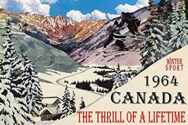WINTER SPORT 1964 CANADA THE THRILL OF A LIFETIME COUPLE SKI JUMPING SKI... - $47.53