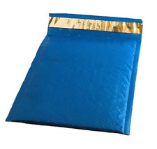50 6x10 BLUE Poly Bubble Mailer Envelope Shipping Wrap Air Mailing Bags ... - $19.99