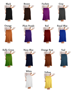 DBG Women's Short Maxi Midi Flare Skirt - $23.99+