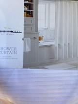 Threshold Gold Lurex Shower Curtain White New Bathroom Nwop - $11.69