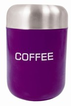 Coffee Canister Aubergine S/S Lid - $10.40