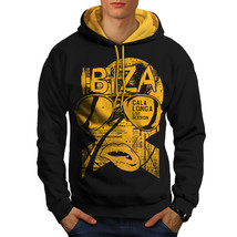 Ibiza Party Live Holiday Sweatshirt Hoody Music Beats Men Contrast Hoodie - $23.99+