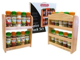 Apollo Rubberwood Spice & Herb Set with Spices ... - $28.71