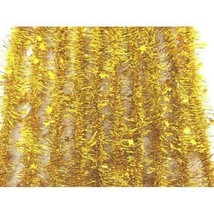 Tinsel Star Shaped Gold 1.3m 10 pieces - $21.87