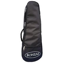 Bonzai Soprano Ukulele Gig Bag with 5mm Foam Padding, Black - $13.98